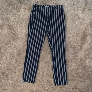 Black/navy blue stripped pants